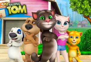 my talking tom taking care pet